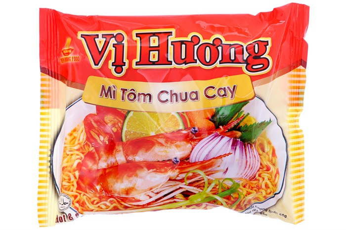 VI HUONG instant noodle Spicy and Sour Shrimp