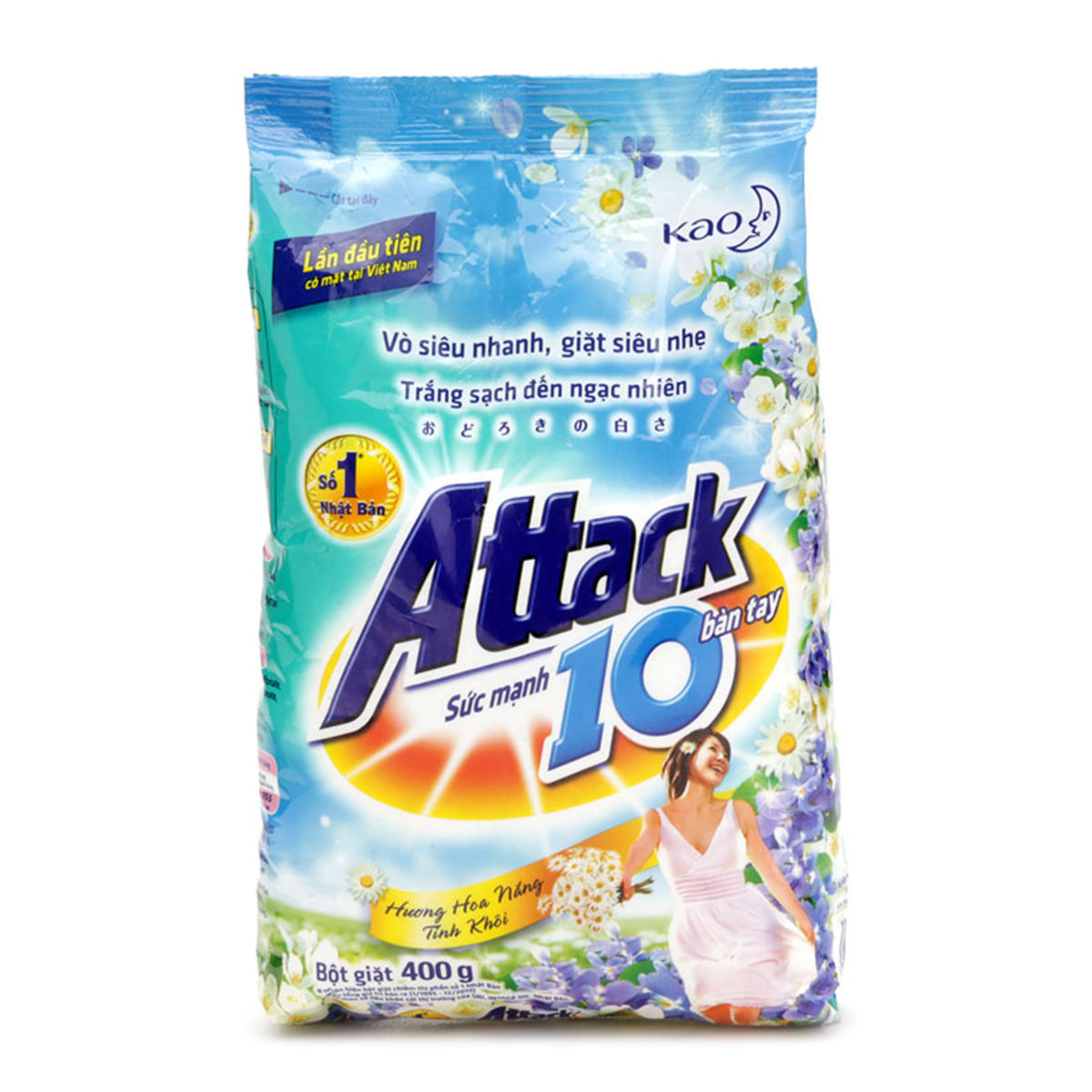 ATTACK WASHING POWDER SUNSHINE FRESH 4.1KG X 3 PACKS