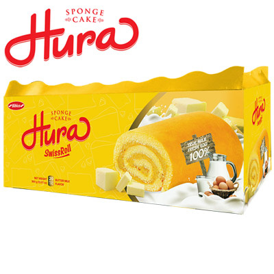 Butter - Milk Hura Swissroll in demi box 360gr