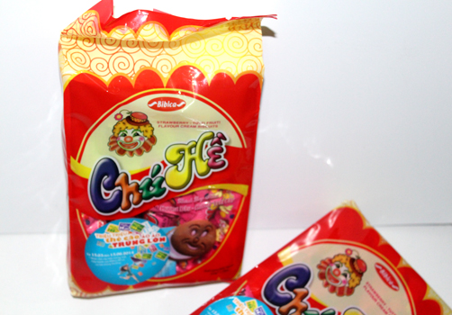 [THQ VIETNAM] Biscuit Strawberry and Fruit flavor Chu He 320gr*60 packs