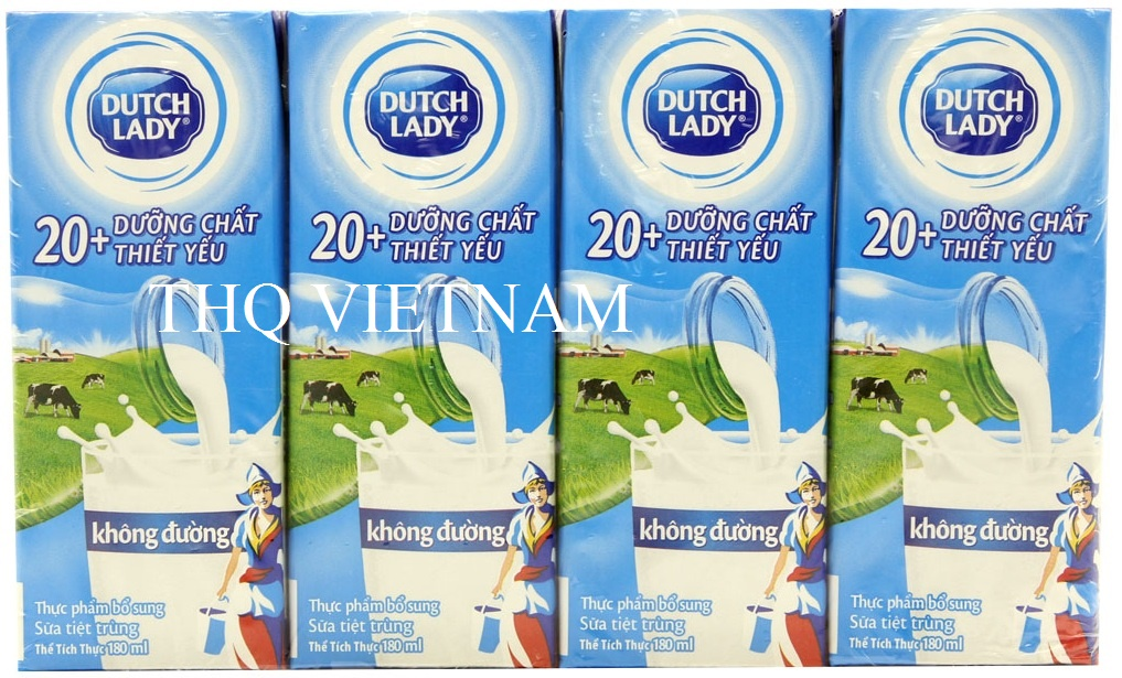 [THQ VIETNAM ] Dutch Lady UHT Milk Unsweetened 180ml*48 boxes