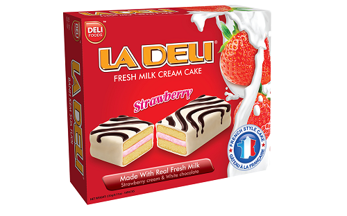FRESH STRAWBERRY MILK CREAM CAKE LADELI 230G