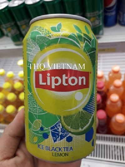 ICE BLACK TEA LEMON LIPTON 330ML*24cans