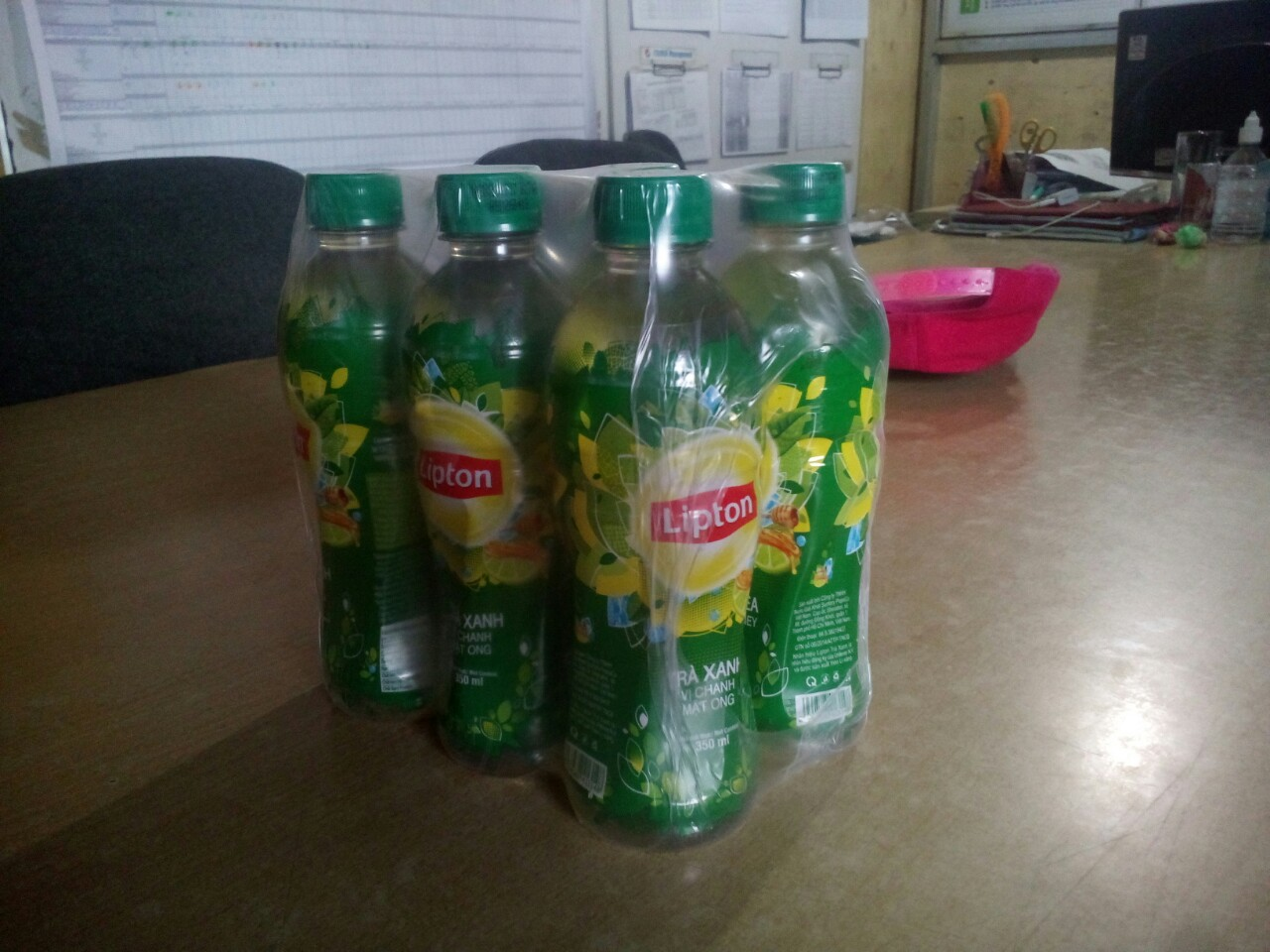 Lipton Honey Lemon Green Tea 350ml 24btls