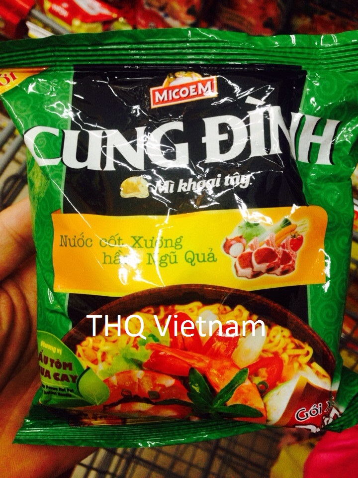 Cung Dinh Instant Noodle(Hot & Sour Shrimp) 30 packs x 80gr