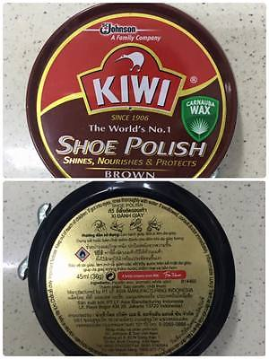 Kiwi Shoe Polish Brown 45ml(36gr) x 72 boxes