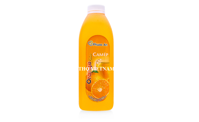 [THQ VIETNAM] ORANGE JUICE FRUIT JUICES PHUOC AN 1L*12 BOTTLES
