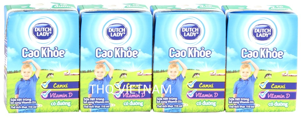 [THQ VIETNAM ] Dutch Lady UHT Milk Sweetened High and Strong 110ml*48 boxes