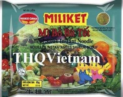 [THQ VIETNAM ] MILIKET Beefsteak Instant Noodles 65g*24packs