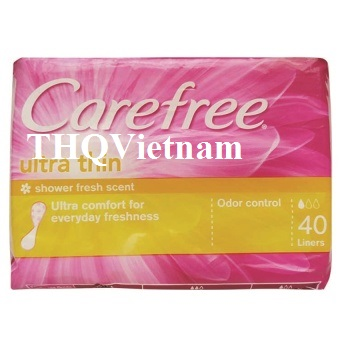 [THQ VIETNAM ] CAREFREE ULTRA THIN 40LINERS X 24PACKS