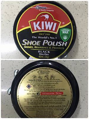 Kiwi Shoe Polish Black 45ml(36gr) x 72 boxes
