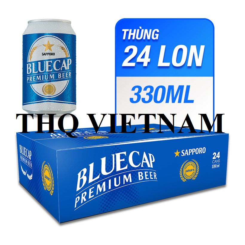 SAPPORO BLUECAP PREMIUM BEER 330ml x 24 CANS