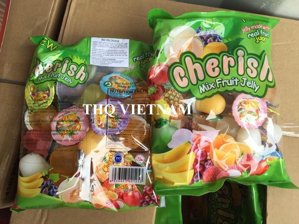 [THQ VIETNAM] JELLY MIXED FRUIT CHERISH 500gr*24 packs