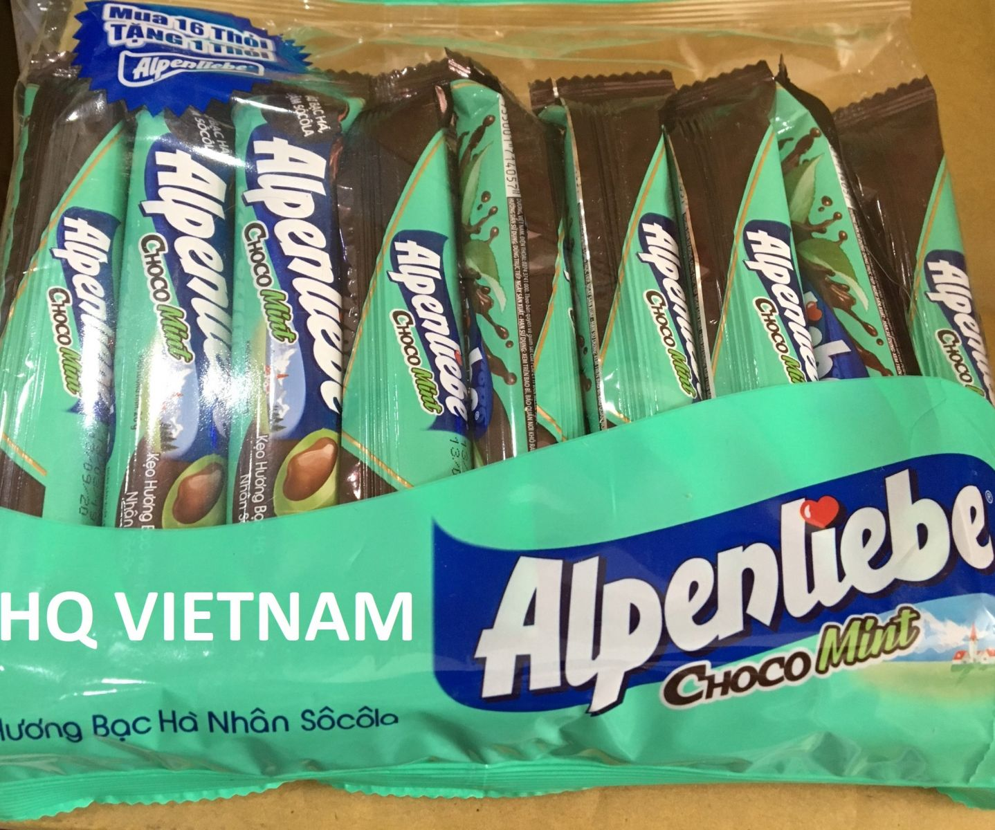 Alpenliebe Choco Mint candy roll 26g * 16 bars * 24 packs