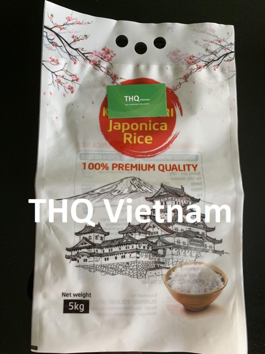 Japonica rice 5% broken, 5kg x 3 bags