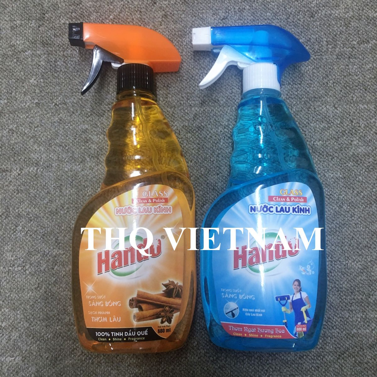 Glass Cleaner Spray 600ml, 680ml with 2 fragrances