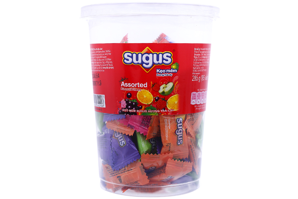 SUGUS ASSORTED SOFT CANDY 285 GR JAR