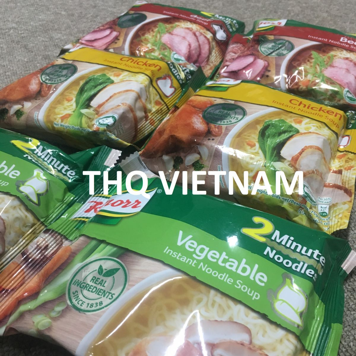Knorr Instant Noodle 75gr (03 flavors: Beef, Chicken, Vegetable)