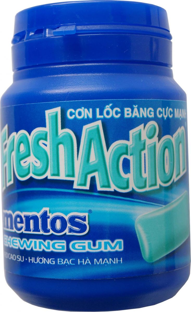 MENTOS CHEWING GUM-FRESH ACTION 336GR (6 BOXES)