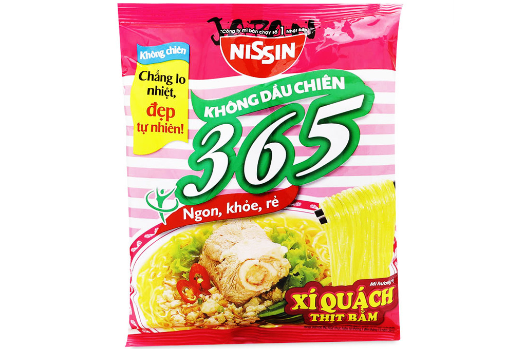NISSIN NOODLE - 365 STEWED PORK BONE WITH MINCE PORK