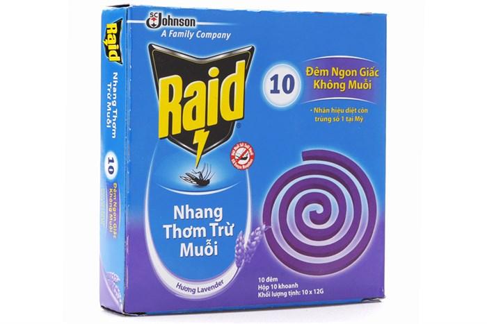 RAID Mosquito Coils Lavender 10 coils