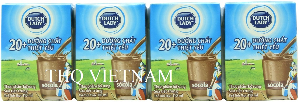 [THQ VIETNAM ] Dutch Lady UHT Milk Chocolate Flavor 110ml*48 boxes