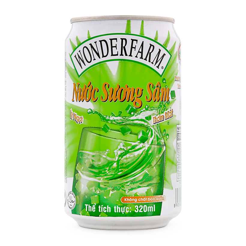 Wonderfarm Green Grass Jelly Drink 310ml x 24can