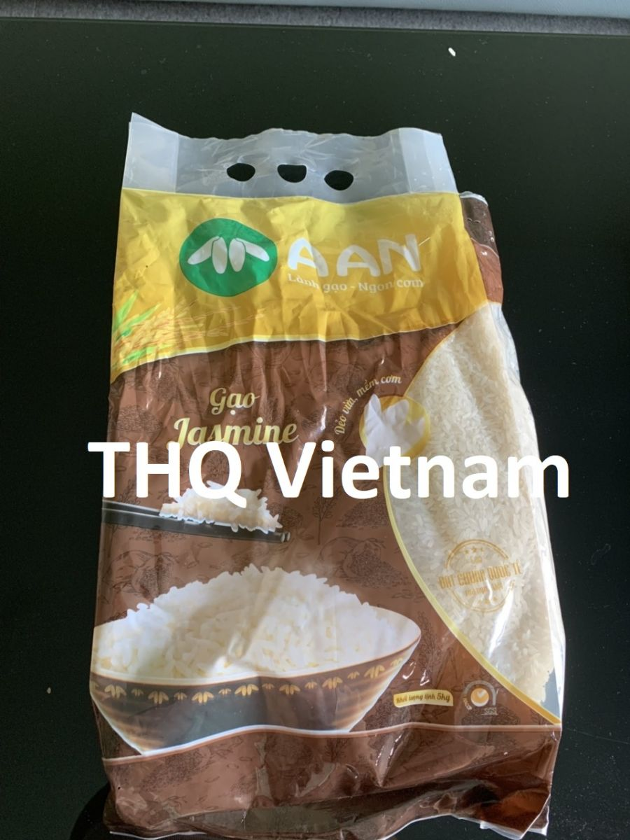 Jasmine rice 5% broken, 5kg/bag