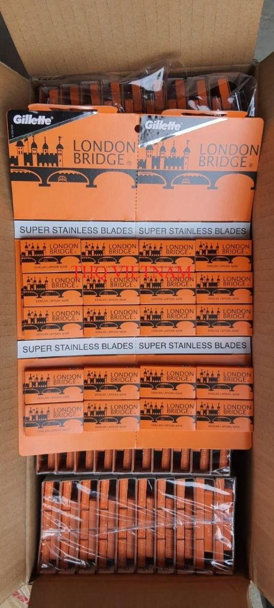 Gillette Super Stainless Blades 5 Blades x 20 packs x 50 boxs