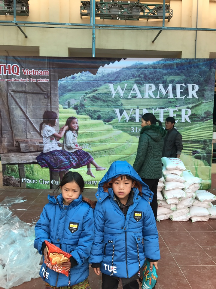 This winter, it seems warmer for the mountainous  students  with THQ Vietnam