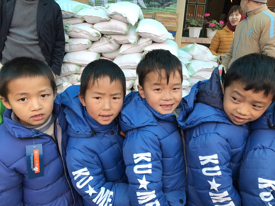 Their smiles and happiness when receiving warm coat
