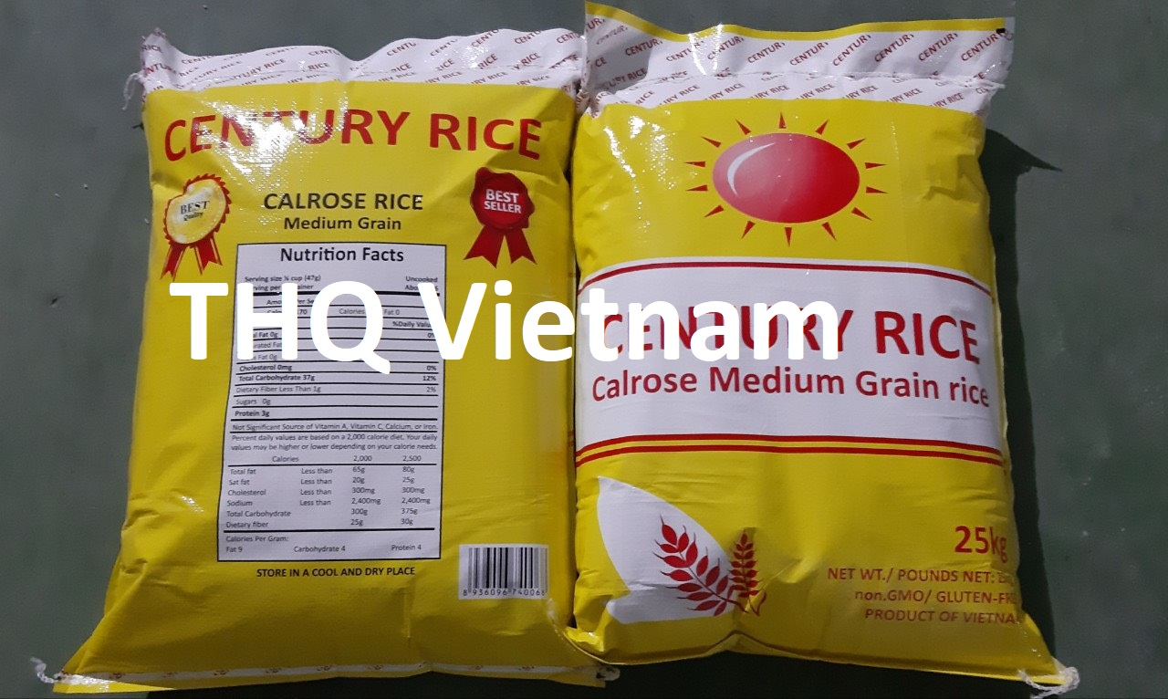Calrose rice medium grain white rice 25kg/bag
